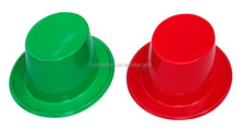 new design PVC top hat paint bucket with brim hat for carnival party