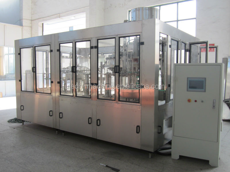carbonated soft drink canning machine or production plant
