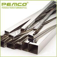 TOP Selling square aisi 201 202 301 304 316 decorative stainless steel tube