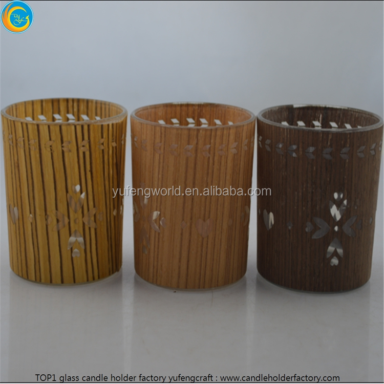 Candle holder glass meterial yufeng craft