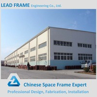 Cost saving light steel framing prefab factory workshop building