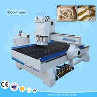 Discount !!! 1325 high effeciency , multi functional woodworking cnc machine , 4 axis cnc router machine 1325T3