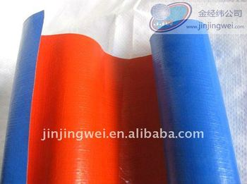 Blue/orange pe tarpaulin in roll
