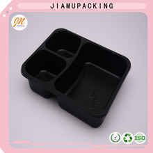 hot hot hot sale black plastic disposable microwave lunch box food container