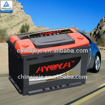 Maintenance free car battery CMF DIN75 AYOYA