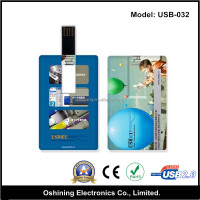 OEM Credict Card Shape / USB business card pendrive 8gb (USB-032)