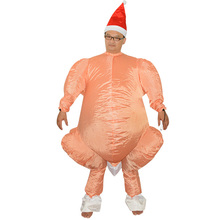 Adult inflatable Costume Turkey Chicken Inflatable Suit Fancy Dress Party Dress