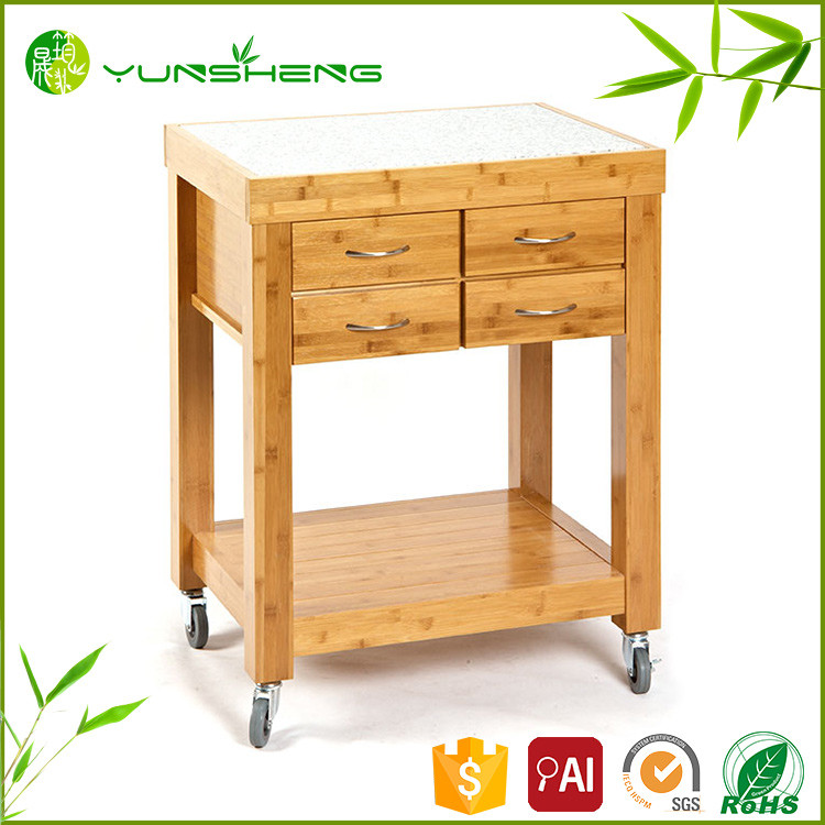 Superior Quality Cheap Bamboo Hotel Dinner Cart