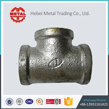 npt galvanized malleable iron pipe fittings reducing tees