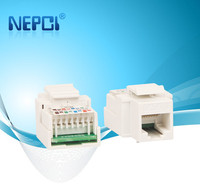 High quality utp cat 5e Cat6 rj45 keystone jack 180 degree