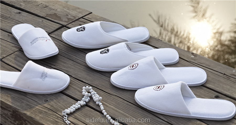 Customized OEM closed Toe EVA Sole Hotel Terry Slipper with Logo