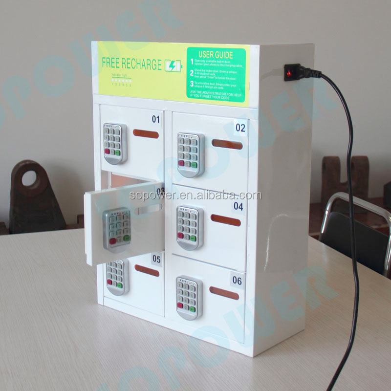 locker cell phone charging station /coin operated cell phone charging kiosk/security charging locker