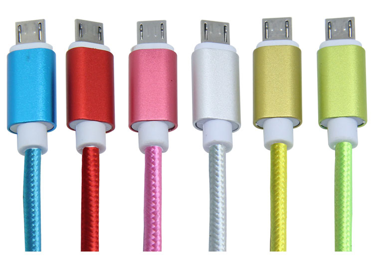 wholesale high speed nylon braided micro usb cable