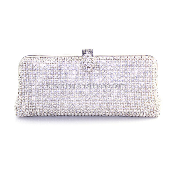 Graceful Crystal Ladies Fancy Hand Bags Clutch Bags