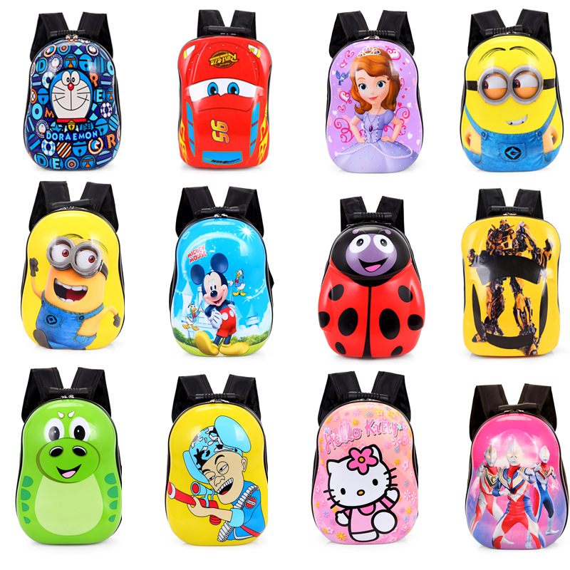 2D Printed Cartoon ABS+PC Shell School Bag 3D School Bag kids Backpack