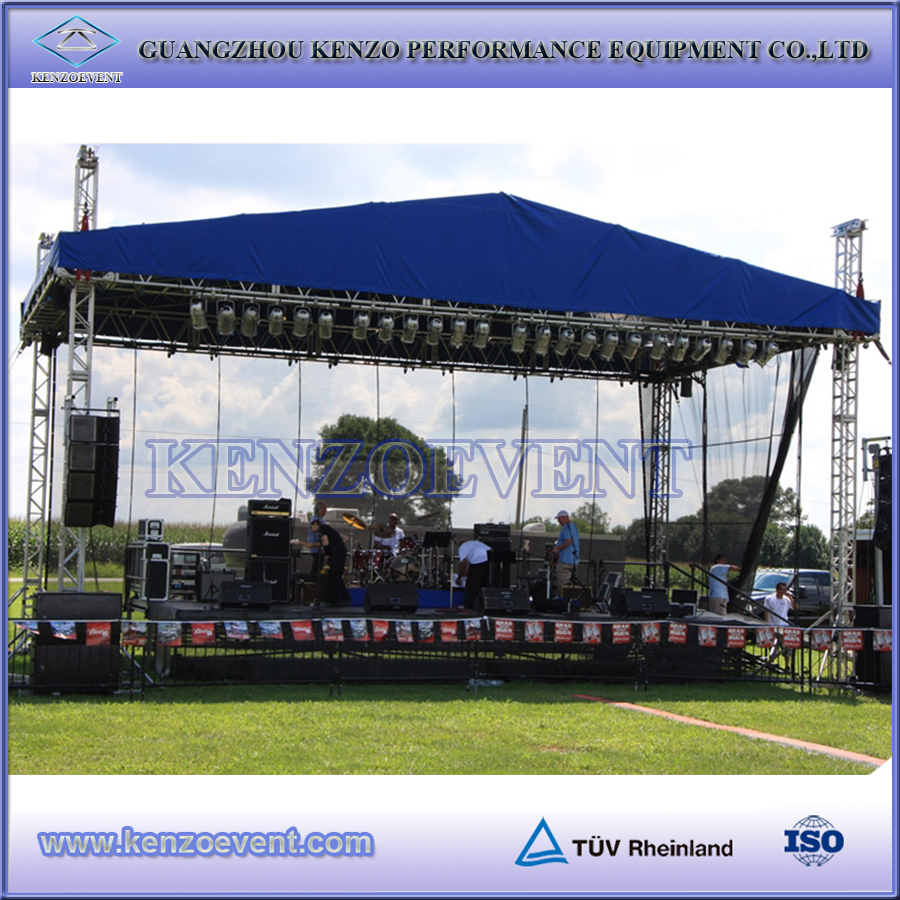 Cheap portable outdoor event stage truss system for sale for Cheap truss systems