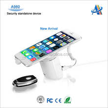 Retail display anti theft device for mobile phone Usage mobile phone security display stand A980