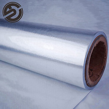 Metalized aluminum foil insulation film brushed silver foil for roof