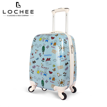 Zipper Cabin Blue Child Cartoon Character Luggage
