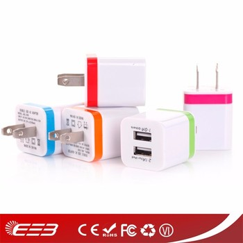 Newest 5V 2.1A dual usb wall charger for ipad 2 3 4