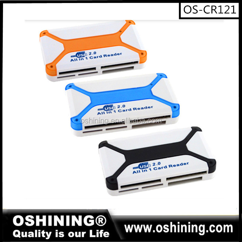 Wholesale High speed Multi all in one SD Card Memory Stick Reader (OS-CR121)