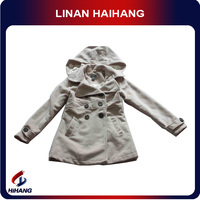 china hot sale high quality child double breasted hooded coat baby baptism clothes manufacturer