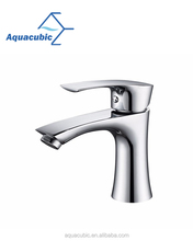 Zinc lavatory single handle wash basin faucet with brass waterway (AF1212-6)