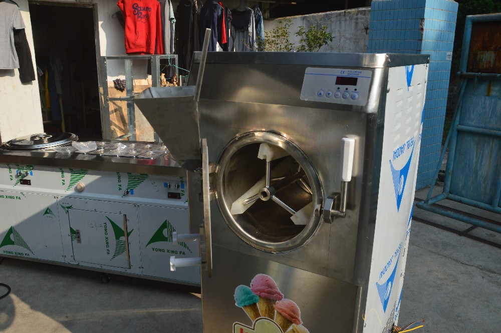Fashionable commercial hard ice cream gelato making machine