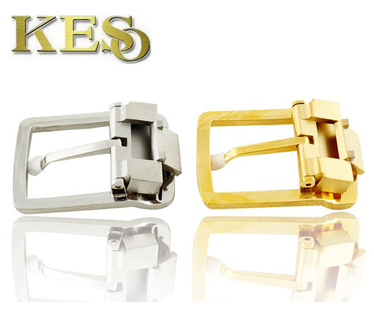 Classic square belt buckle Fashion stainless steel pin buckle for men