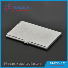 Custom embossed cardholder aluminium promotional name card case aluminum business card holder