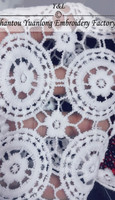 white wholesale sare design pattern lace fabric trimming