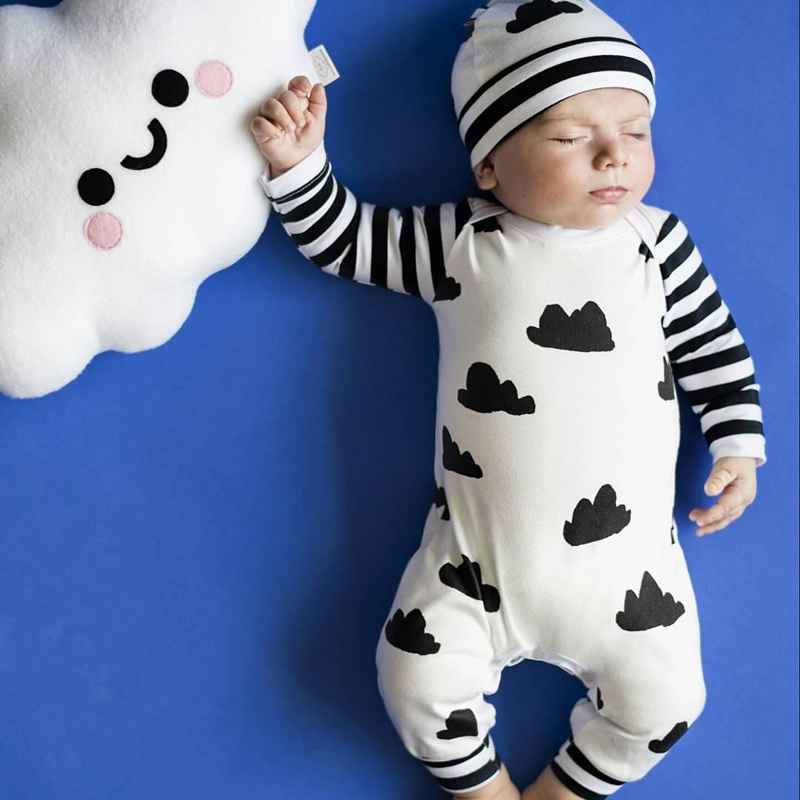 Spring Autumn Newborn Baby winter Romper Infant Baby Girl Boy Long Sleeve Clothes Striped Patchwork Romper Jumpsuit Outfits