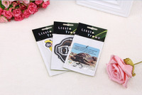2014 New Top Custom Hanging Paper Car air freshener choose your scent fragrance