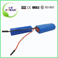 2000mah 12v deep cycle li ion lithium battery pack for massage hammer