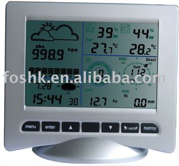 wh3080 professional station m t o avec horloge radio pilot e buy station m t o vitesse du vent. Black Bedroom Furniture Sets. Home Design Ideas