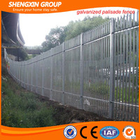 W profile triple pointed top security palisade fence