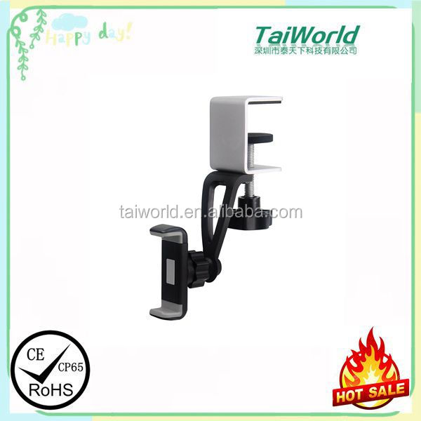 2016 Newest Design 360 Degree Swivel Kitchen Cabinet Use One Hand Operation Phone Cradle For 3.5-6 Inch Mobile Phone