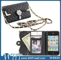 Designer Leather Ultra-thin Flip Mobile Phone Case Cover For Apple iPhone 4S Pouch Cases