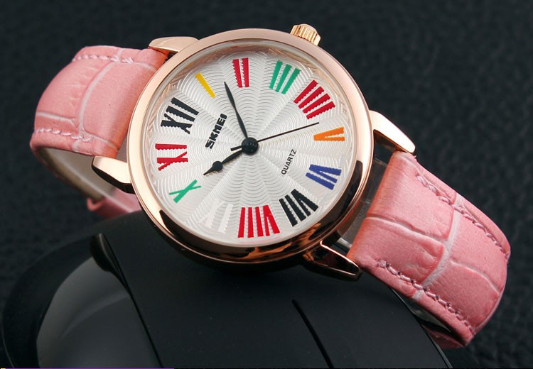 Nice style skmei quartz watches japan movt water resistant watch 30m ladies fancy watches