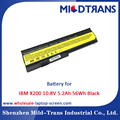 Top Rechargeable Laptop Battery Supplier for IBM X200 10.8V 5.2Ah 56Wh Black