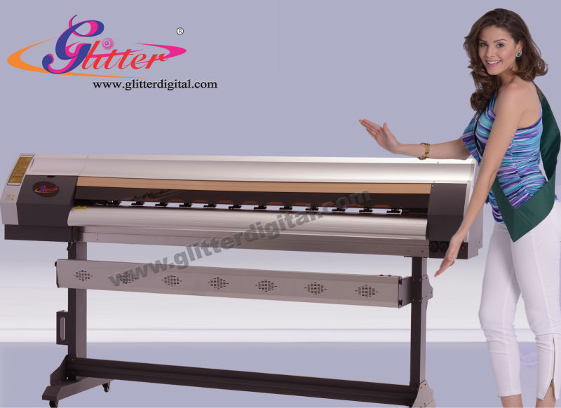 Glitter Factory supply!!! CE,CO2 Professional large format flatbed inkjet printer