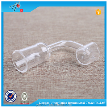 Ceramic clear domeless quartz nail