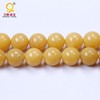 big yellow stone beads smooth round semi precious natural stone