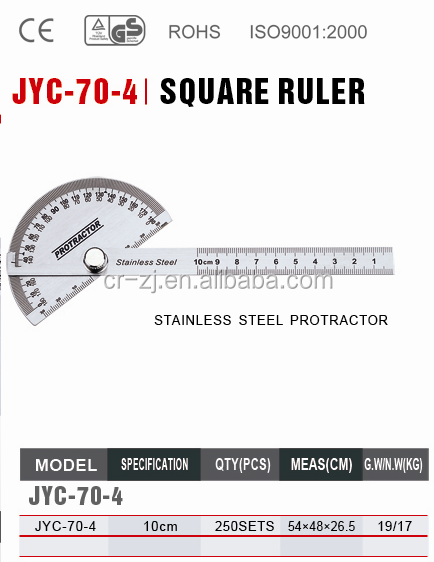 stainless steel protractor and ruler adjustable square ruler