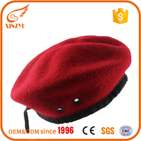 2016 custom design your own wool beret military for french hat beret hat