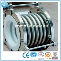 Teflon corrugated expansion joint/PTFE stainless steel compensator with flange/metal bellows compensator