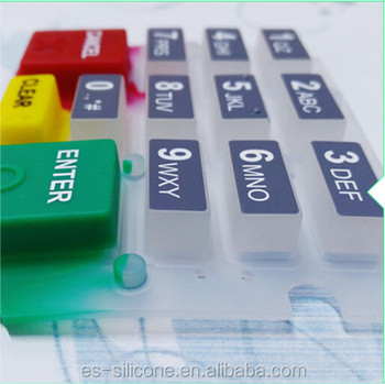 Custom Made Conductive Silicone Numerica POS Keypad Push Rubber Button