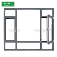 large double glass aluminium french window