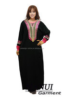 Wholesale high quality black muslim long sleeves maxi abaya egypt Fashion