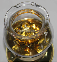 modern stainless steel gold Lotus oil lamps